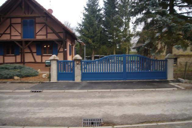 Sundgau MBJ Diffusion portail aluminium bleu haut rhin 68