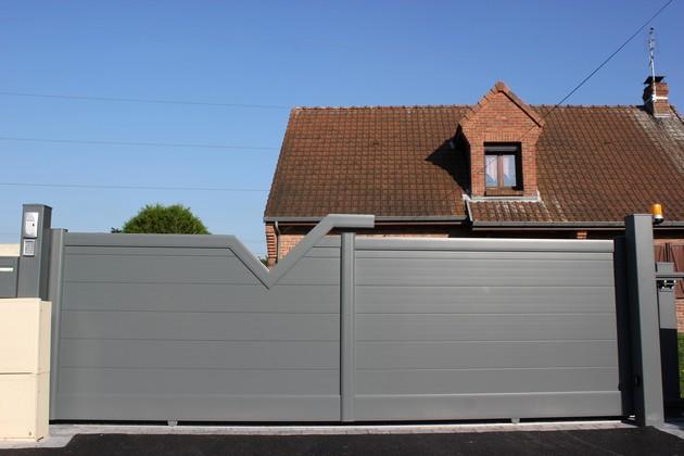 Sundgau MBJ Diffusion portail aluminium gris design haut rhin 68 (1)