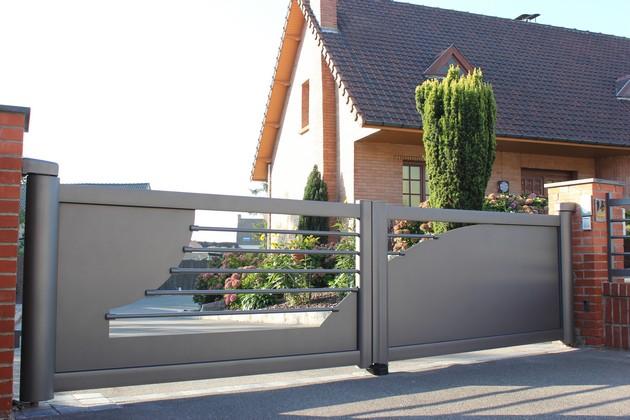 Sundgau MBJ Diffusion portail aluminium gris design haut rhin 68 (3)