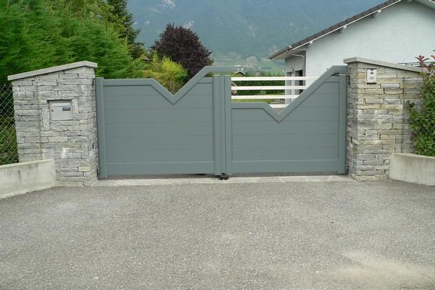 Sundgau MBJ Diffusion portail aluminium gris haut rhin 68